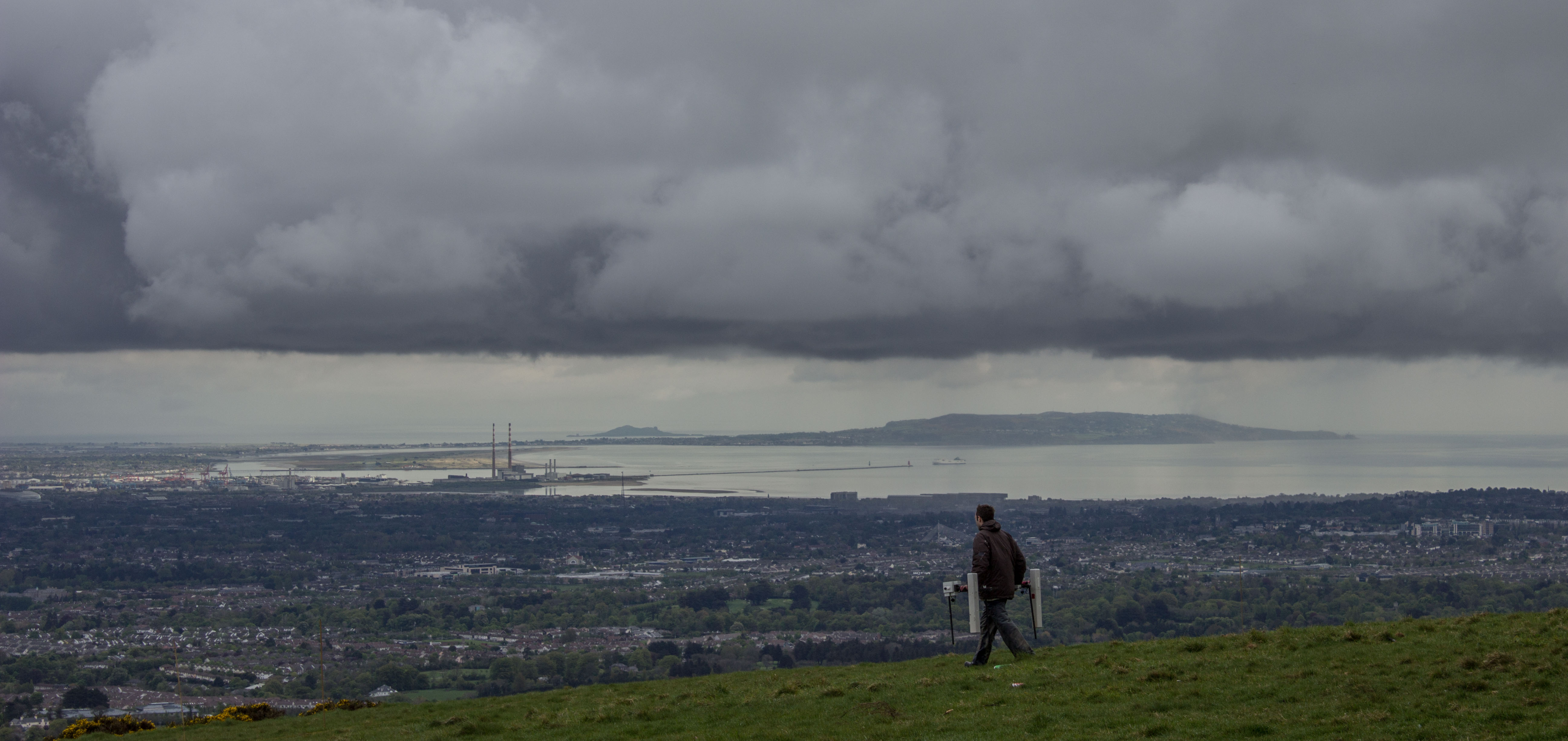 Magnetometry and a great view of Dublin City from Mountpelier Hill. Image: Abarta Heritage